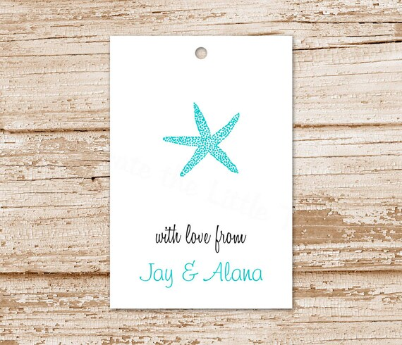 Starfish Tags Gift Personalized Birthday