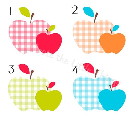 Teacher Mini Note Gift Set Personalized Apple Stationary APPLES MINI