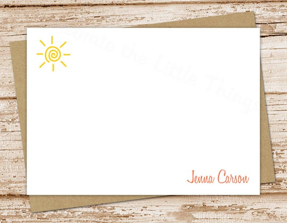 Notecards Sunshiny Summer