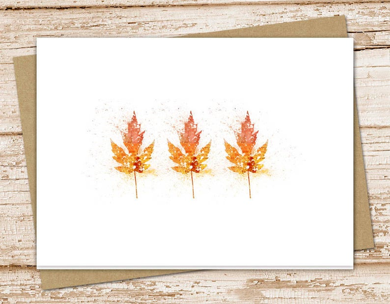autumn leaves blank cards . greeting cards . note cards image 0