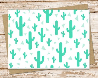 cactus note card set .  cacti notecards . southwestern succulents . blank note cards . folded stationery . stationary . set of 6