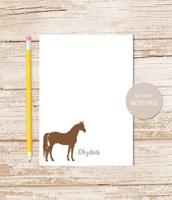 Horse Note Pad