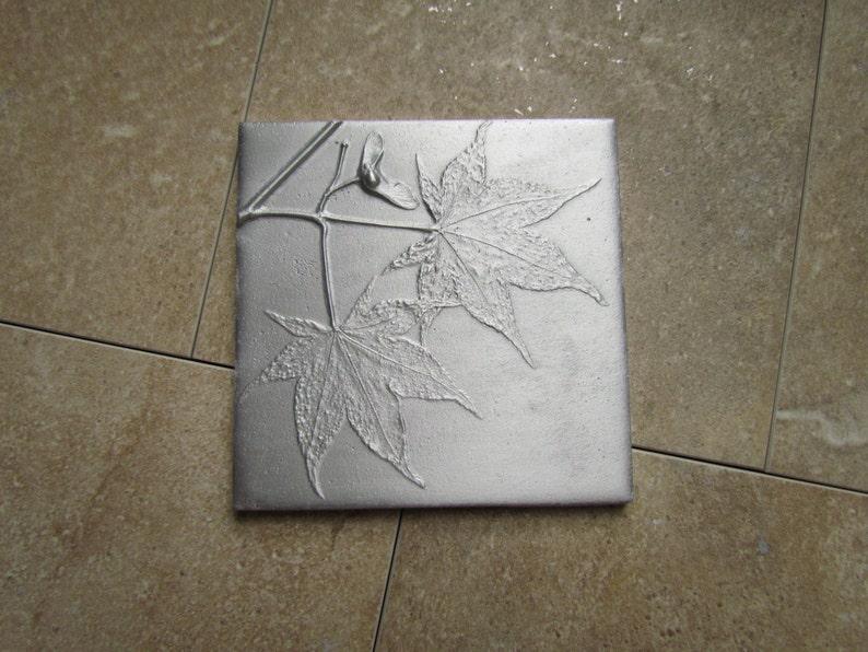 Japanese Maple Leaf  Wall Art Botanical Tile 4 x 4 inch image 0