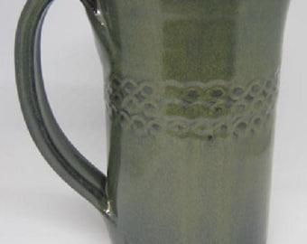 Handmade pottery mug, Tall Glass, FREE SHIPPING, Coffee mug , and tea mug, Ceramic cup