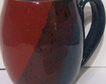 Handmade Pottery Mug, holds 12 ounces, tea cup, free shipping ,  fits one cup coffee makers