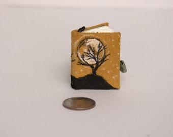 Blank Book Pendant- Leather Tree