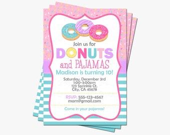 donut party invitation doughnut birthday invitations donut etsy