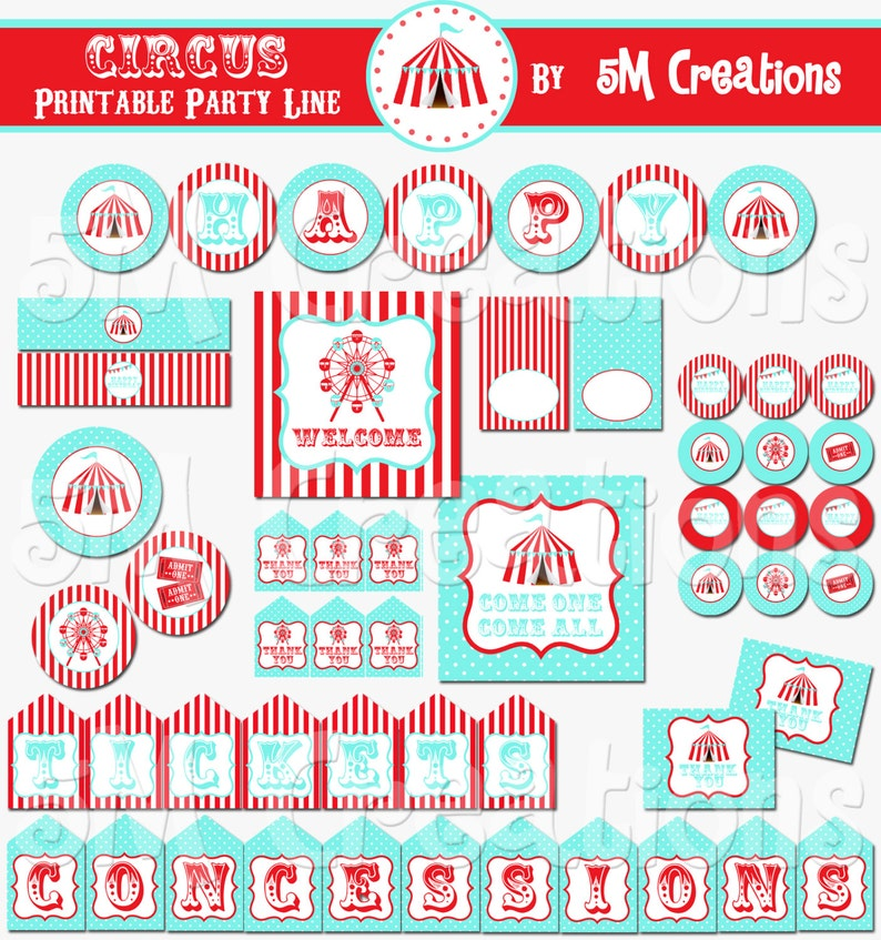 picture regarding Carnival Printable known as Carnival Printable Occasion Deal - Circus Birthday Get together Decorations - Circus Bash Printables - Carnival Banner - Prompt Down load Pdf