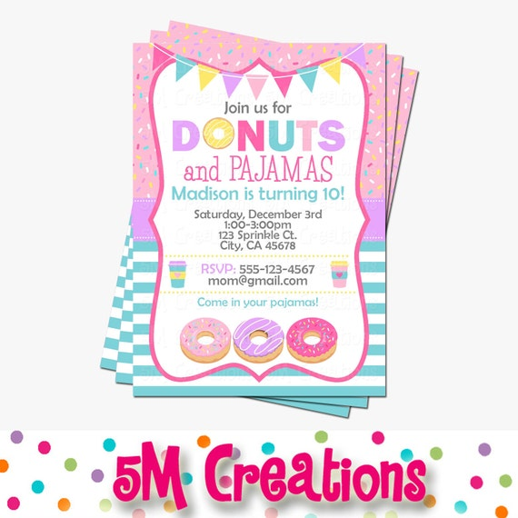 Donut Party Invitation