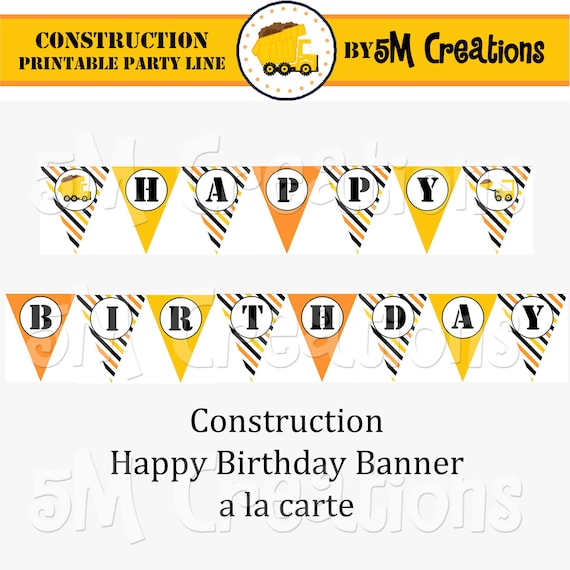 Construction Dump Truck Patterned Paper for Scrapbooking and Gift Wrapping Printable Color Digital PDF custom colors available