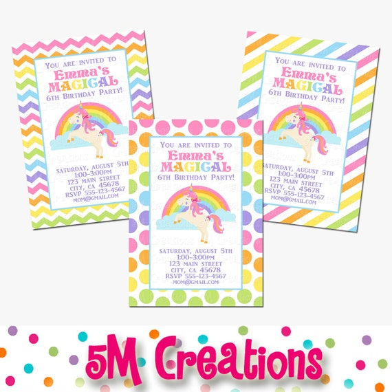 Unicorn Party Decorations Rainbow Unicorn Birthday Party Package Pony Banner Cupcake Toppers Printable Package Instant Download Pdf