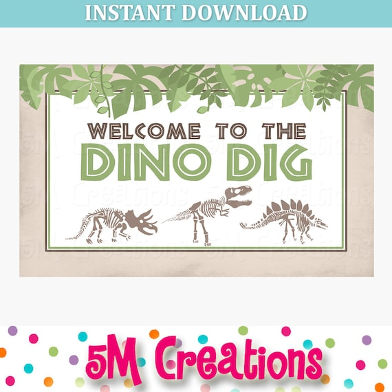 DN1 Editable Dinosaur party signs and games Welcome to the dinosaur party signs Printable Dinosaur Party Signs Printable Dinosaur signs