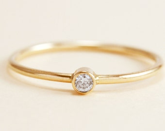Simple Diamond Ring in 14K Gold c9ada6d8682f