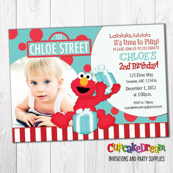 Elmo Birthday Invitation Sesame Street