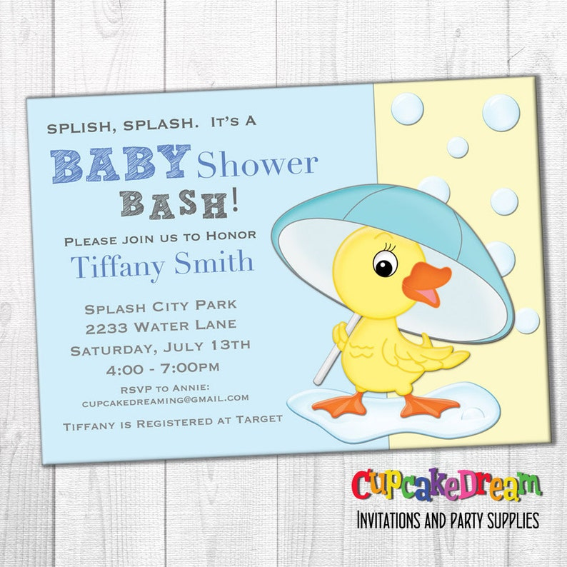 Boy Baby Shower Invitation Duck Baby Shower Etsy