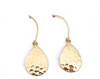 Gold Drop Earring, Handmade Jewelry, Simple Earring, Minimalist Earrings, Everyday Earrings, Gold Earrings Dangle, Handmade Jewelry, Gift