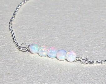 White Opal Bracelet, Stone Bracelet, Bridesmaid Gift, Statement Bracelet, Opal Bracelet, Unique Bracelet, Womens Bracelet, Bracelet, Gift