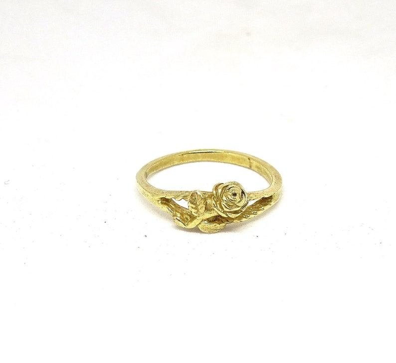 14K gold Rose Ring Delicate Ring Bohemian Jewelry Gold Ring Solid Gold Flower Ring,Rings for Women Boho Ring Unique Rings Womens Ring