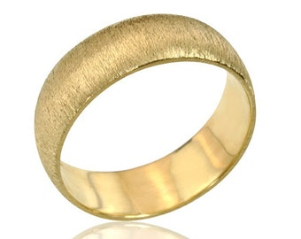 Men's Ring, Men's Wedding Band, Retro 14K Yellow Gold Wedding Band, Men's Gold Wedding Band, Unique Wedding Ring, Gift for Him, Gold Ring