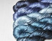 Everything is relative - Gradient Yarn Set of Silk Tape Lace Yarn - Hand Dyed Yarn - handgefärbte Seide  - Garn handgefärbt - DyeForYarn