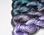 Serendipity - Gradient Yarn Set of Silk Tape Lace Yarn - Hand Dyed Yarn - handgefärbte Seide  - Garn handgefärbt - DyeForYarn