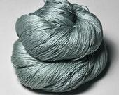 Rain in a graveyard - Silk Lace Yarn - Hand Dyed Yarn - handgefärbte Seide - Garn handgefärbt - DyeForYarn