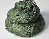 Shadowy fern OOAK - Tussah Silk Fingering Yarn - Hand Dyed Yarn - handgefärbte Seide  - Garn handgefärbt - DyeForYarn