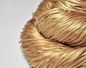 Fading whisky hangover - Hand Dyed  Silk Tape Lace Yarn - Hand Dyed Yarn - handgefärbte Seide  - Garn handgefärbt – DyeForYarn