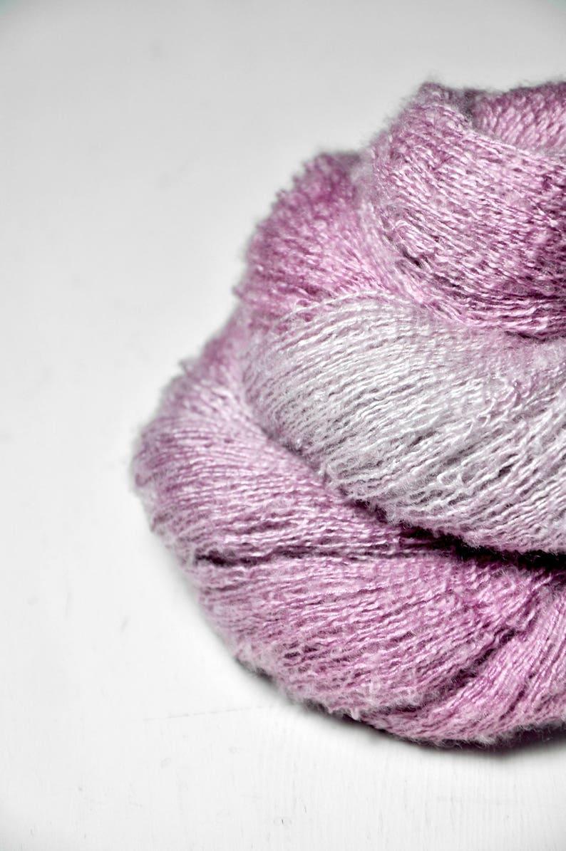 handgef\u00e4rbte Seide Purple Hand Dyed Yarn Garn handgef\u00e4rbt Silk  Cashmere Fine Lace Yarn DyeForYarn Sunken in a bath of roses