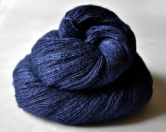 My heart is blue - Tussah Silk Lace Yarn - Hand Dyed Yarn - handgefärbte Wolle - DyeForYarn
