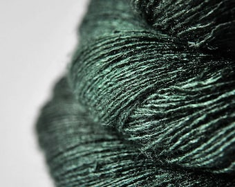 Lost in the coniferous forest - Tussah Silk Lace Yarn - Hand Dyed Yarn - handgefärbte Wolle - DyeForYarn