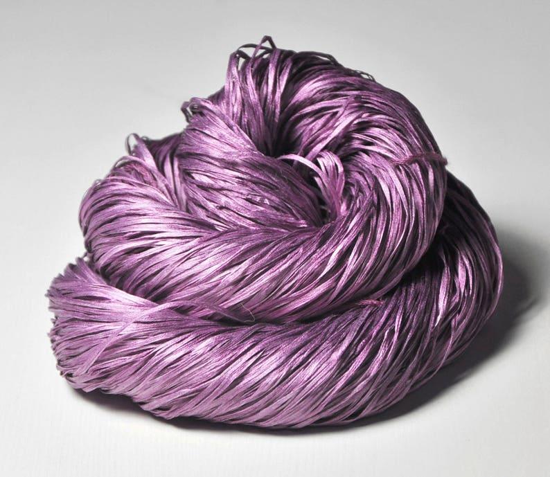 Hand Dyed  Silk Tape Lace Yarn handgef\u00e4rbte Seide DyeForYarn Purple Hand Dyed Yarn Taking a bath of roses