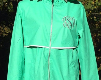 Charles River monogrammed rain coat personalized rain jacket SALE