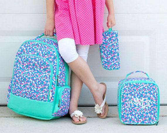 Personalized backpack confetti pop print book bag lunch box  6f0e4c40cb6e6