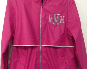 Charles River monogrammed rain coat personalized rain jacket