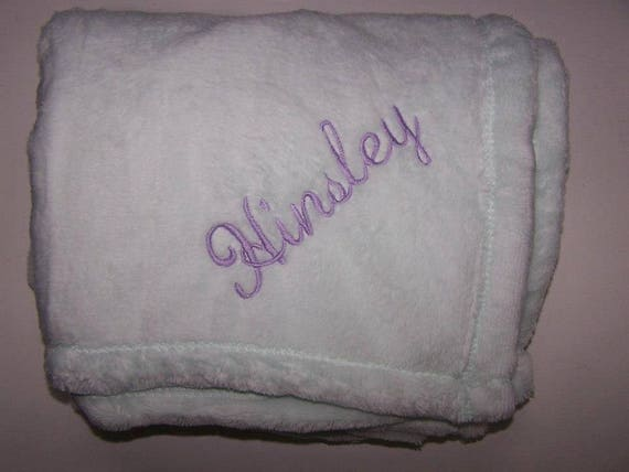 Personalized Monogrammed Baby Blanket Made with Soft Tahoe Fleece Girl or Boy