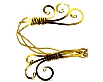 cb6d48eccfc Brass Arm Bracelet, Gold Upper Arm Cuff, Upper Arm Band, Egyptian Armlet,  Upper Arm Bracelet, Gold Arm Bangle, Arm Cuff Bracelet