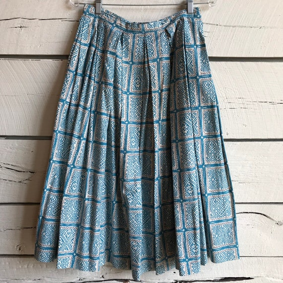 Vintage 1950s cotton skirt • vintage cotton skirt