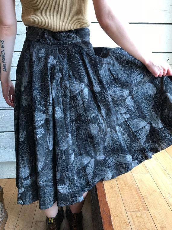 Vintage 1950s fireworks skirt • 50s novelty print… - image 6
