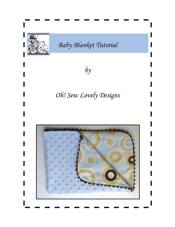 Baby Blanket Sewing Pattern Easy Beginner | Etsy