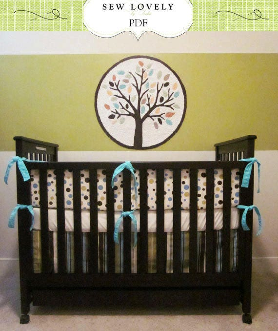 Complete Crib Bedding Set Sewing Pattern Includes 3 Pdf Etsy