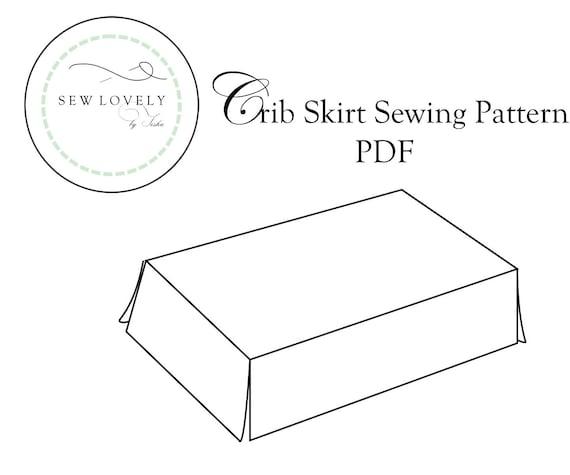 Crib Skirt Sewing Pattern Pdf Crib And Baby Bedding Etsy