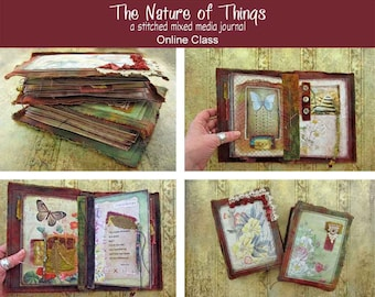 Stitched Mixed Media Journal Online Class - The Nature of Things