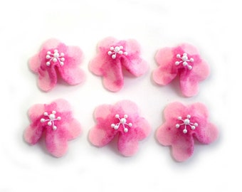 Cherry Blossoms Felt Fortune Cookies, Spring Party Favors, Spring Wedding Favors, Spring Dinner Favors, Felt Flower Fortune Cookies