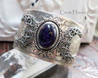 AMETHYST - Triple Moon Goddess Cuff Bracelet by Crow Haven Road