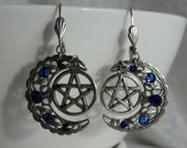 BLUE MOONS Pentacle Earri...