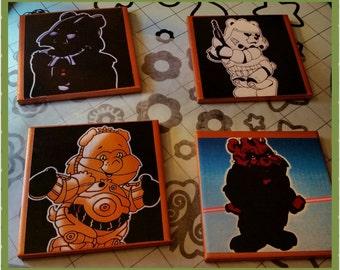 Star Wars Care Bears Coasters set of 4