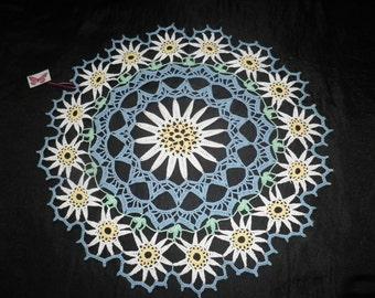 Crochet Doily 45 cm - 18 inches - Daisy