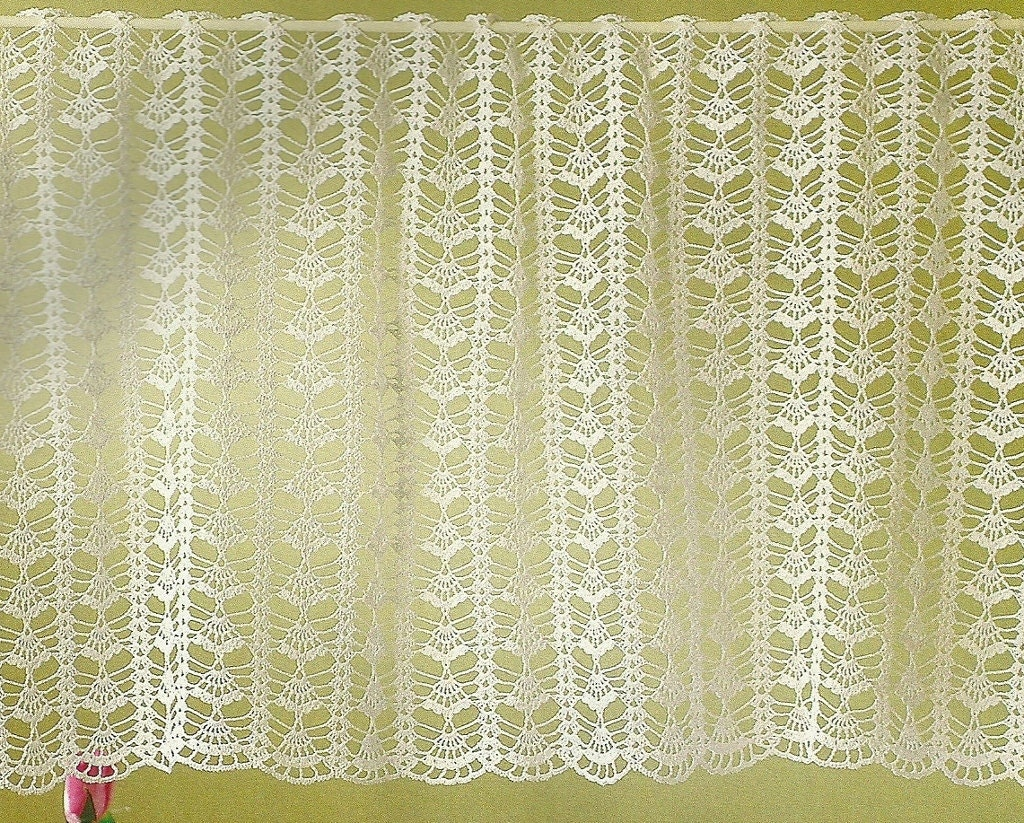 Crochet encaje de cortina/cenefa brisa de mañana   Etsy
