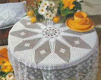 CrocheT Tablecloth - Diamonds